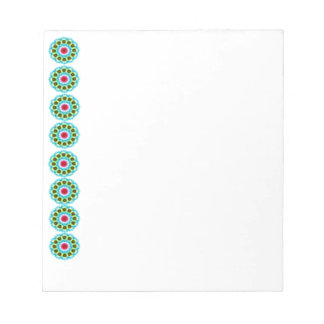 mandala blue flower notepad