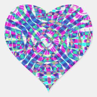 Mandala Blue Heart Sticker