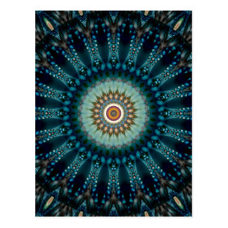 Mandala blue light no. 3 created by Tutti Postcard