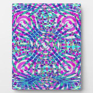 Mandala Blue Plaque