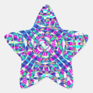 Mandala Blue Star Sticker