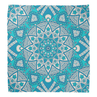 Mandala Blue tile pattern Bandana