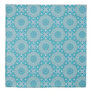 Mandala Blue tile pattern Duvet Cover