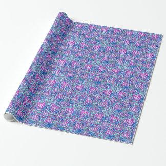 Mandala Blue Wrapping Paper