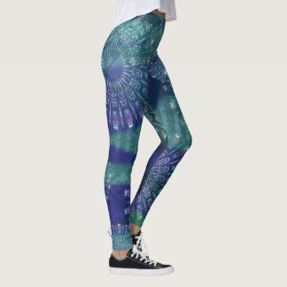 Mandala blueprint leggings