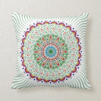 MANDALA BOHEMIAN PRINT, Multicolor Throw Pillow