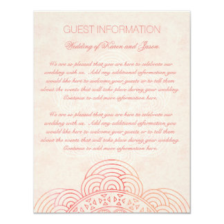 Mandala Boho Chic Wedding Guest Information Card