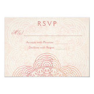 Mandala Boho Chic Wedding RSVP Cards