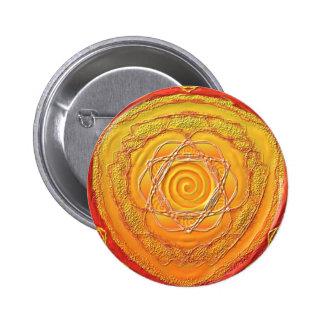 """Mandala button """"golden spiral """""""