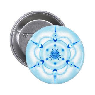 "Mandala button ""light blue """