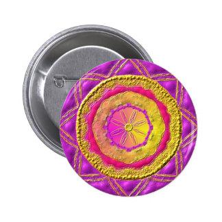 """Mandala button """"Night and Day """""""