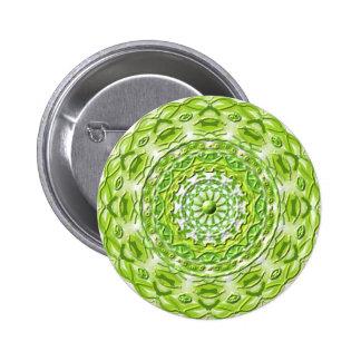 "Mandala button ""olive green one 2 """