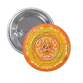 "Mandala button ""orange 2 """