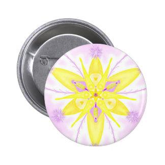 """Mandala button """"yellow 1 """""""