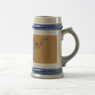 mandala camel beer stein