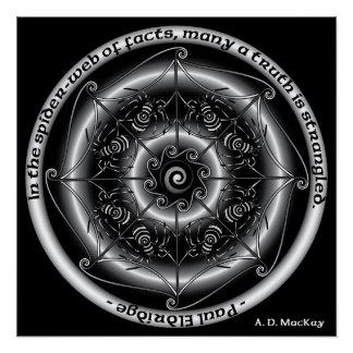 Mandala celtique d'araignée perfect poster