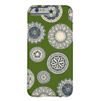 mandala cirque spot green barely there iPhone 6 case