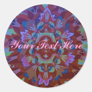 Mandala Classic Round Sticker