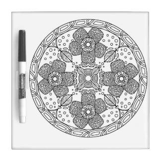 Mandala Color Dry Erase Board Rafflesia arnoldii