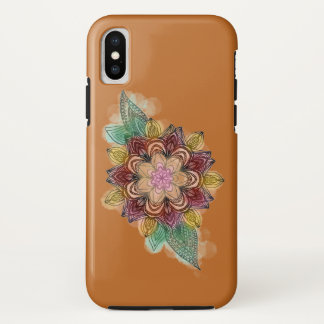 Mandala colorful floral iPhone x case