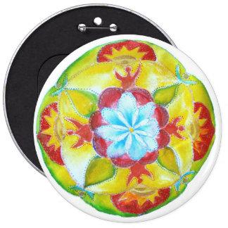 "Mandala Colossal, 15.2 cm (6"") Round Badge 6 Inch Round Button"
