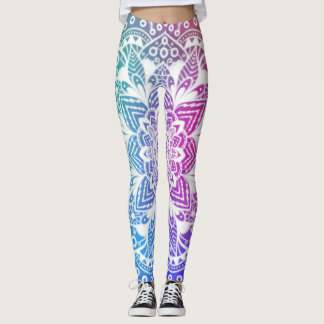 Mandala colourful leggings