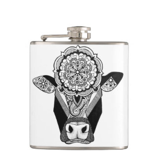 Mandala Cow Flask