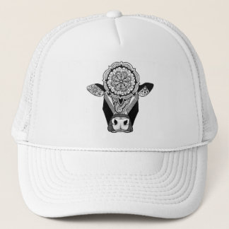 Mandala Cow Trucker Hat