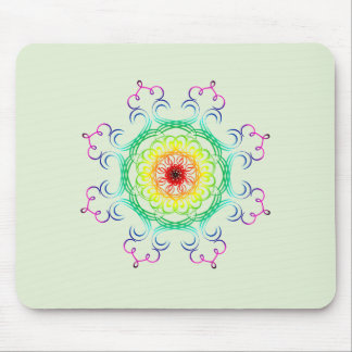 Mandala Damask Yoga Meditation Holistic Mouse Pad