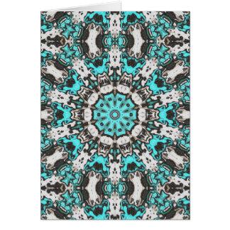 Mandala de texture de turquoise carte de vœux