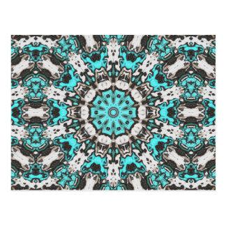 Mandala de texture de turquoise cartes postales