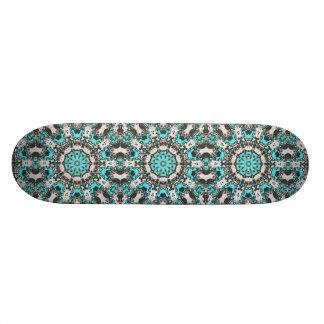 Mandala de texture de turquoise skateboard 20,6 cm