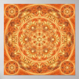 Mandala de thanksgiving poster