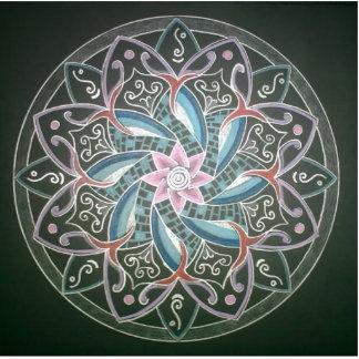 Mandala Deepsee Energy painting Standing Photo Sculpture