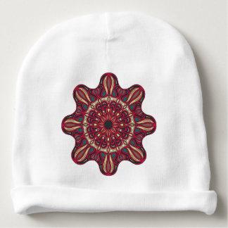 Mandala design baby beanie