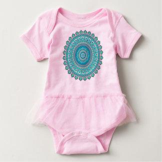 Mandala design baby bodysuit