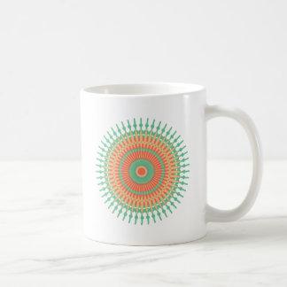 Mandala design green, orange Indian Coffee Mug
