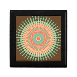 Mandala design green, orange Indian Gift Box
