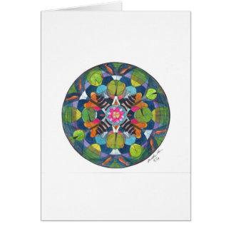 Mandala design of my late friend's pond card