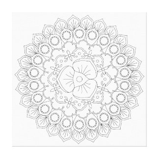 Mandala design. Perfect for backgrounds, Canvas Print