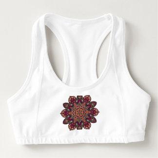 Mandala design sports bra