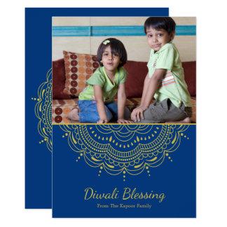 Mandala Diwali Greeting Card - Custom Colour