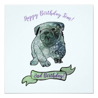 Mandala Dog Birthday Party French Bulldog Card