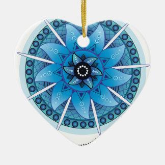 Mandala Dream Catcher 2 Ceramic Heart Ornament