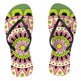 Mandala Dua Flip Flops