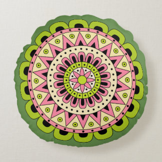 Mandala Dua Round Pillow