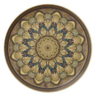 Mandala Earth Shell Plate
