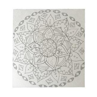 mandala elements notepad