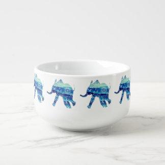 Mandala Elephant Soup Mug