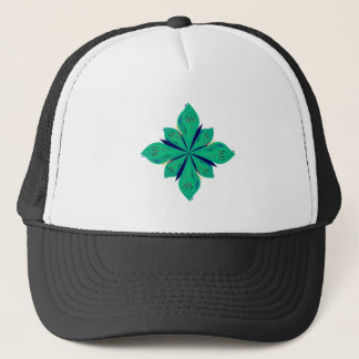 Mandala Ethno green deco Trucker Hat